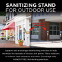 Sanitizing Stand for Outdoor Use