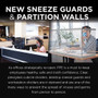 New Sneeze Guards & Partition Walls for Offices