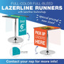 "LazerLine 36"" Table Runner Full-Color Full-Bleed"