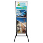 7ft Dual Trak Outdoor Double Sided Vinyl Banner Display Stand