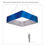 Square Hanging Banner 10ft - 48in with Outside Graphic