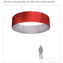 Round Hanging Banner 15ft - 48in with Outside Graphic