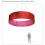 Round hanging Banner 8ft - 24in with Outside Graphic