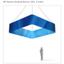 Square Hanging Banner 8ft - 24in with Outside Graphic