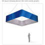 Square Hanging Banner 8ft - 48in with Outside Graphic