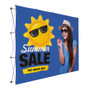 10ft Straight Premium Video backdrop Display Face Kit (Block-Out Fabric)