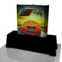 BURST Curved Backlit Tabletop Fabric Pop-up Display
