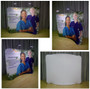 6ft WaveLine Wide Curved Tabletop Fabric Display