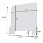 "Protective Acrylic Counter Barrier 40"" x 32"""