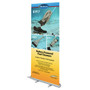 """Budget Retractable Banner stand 33"""" x 79"""" Hardware & Banner"""