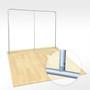 10ft Waveline Straight Wall Fabric Display