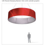 Round Hanging Banner 12ft - 24in with Outside Graphic
