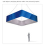 Square Hanging Banner 15ft - 48in with Outside Graphic
