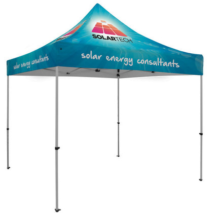 Premium 10' X 10' Lightweight and sturdy Event Tent Kit (Full-Color Full Bleed Dye-Sublimation)