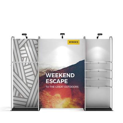 WaveLine Merchandiser Kit 01 / 11ft Exhibit Display/Retail Pop-Up Store with Shelving