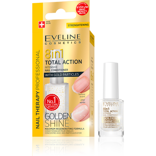 Eveline - Nail Therapy 8 in 1 Total Action Golden Shine Conditioner