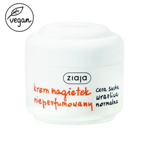 Ziaja - Marigold Unscented Face Cream, Vegan, 50ml