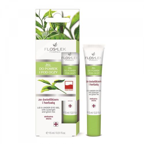 Flos-Lek - Lid And Under Eye Gel With Eyebright And Green Tea, Vegan, 15ml