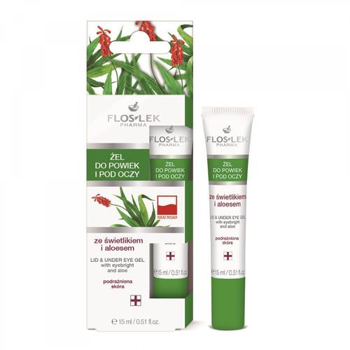 FlosLek - Lid And Under Eye Gel With Eyebright And Aloe, Vegan, 15ml