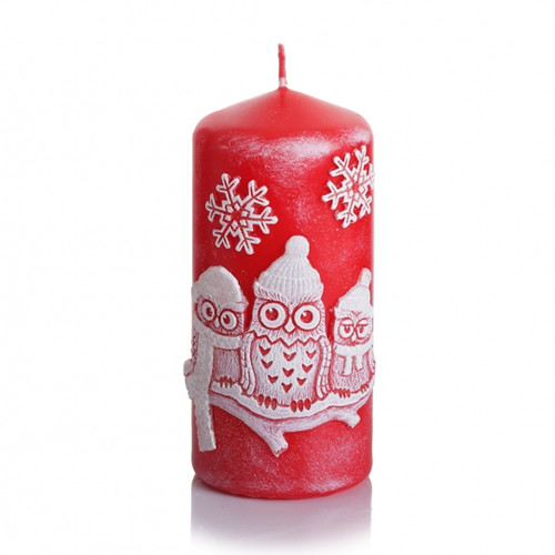 Christmas Decorative Candle - WINTER OWLS
