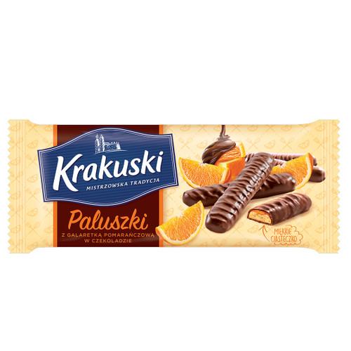 Chocolate Covered Finger Cookies - Orange