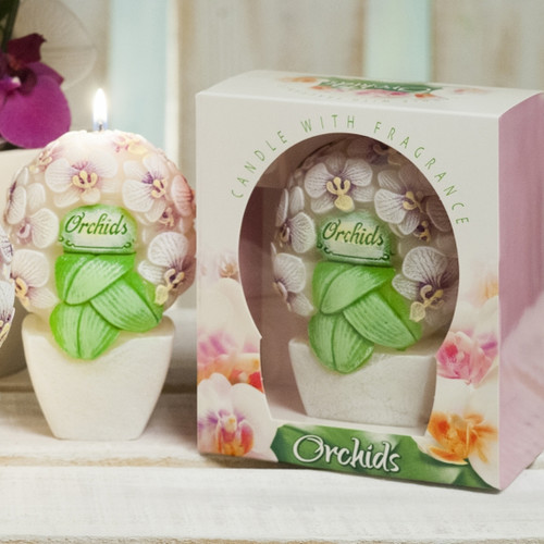 Decorative Candle - Orchid Bouquet (Scented)