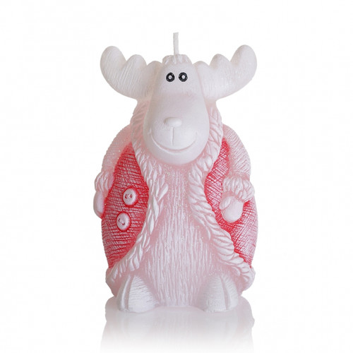 Christmas Decorative Candle - Mini REINDEER RED