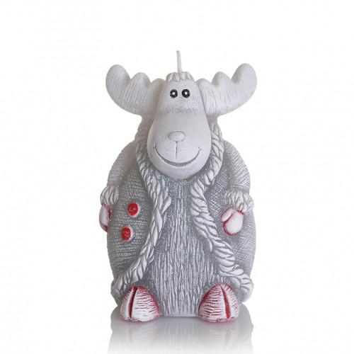 Christmas Decorative Candle - Mini REINDEER WHITE