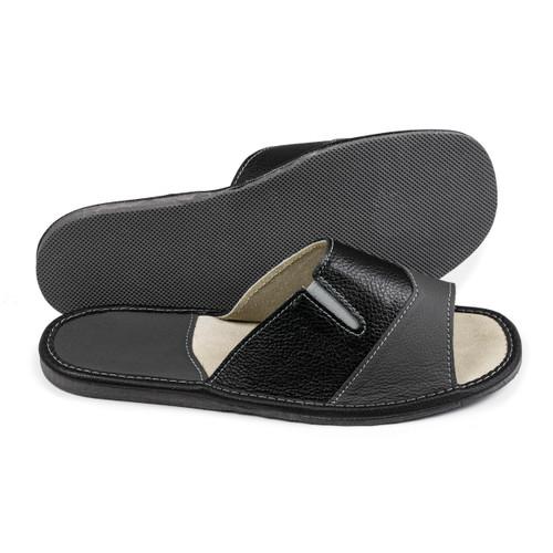 Men's Home Slippers  - Open Toe (Black)