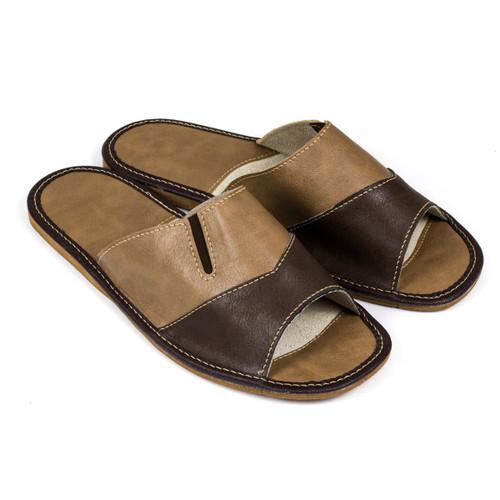 Men's Home Slippers  - Open Toe (Brown)
