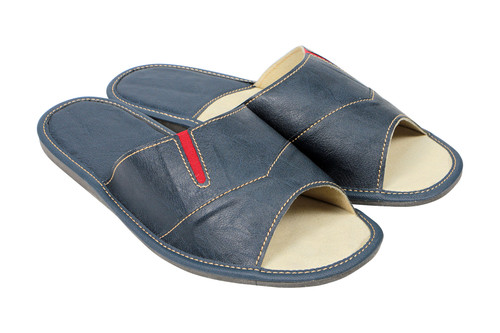 Men's Home Slippers  - Open Toe (Blue/Red)