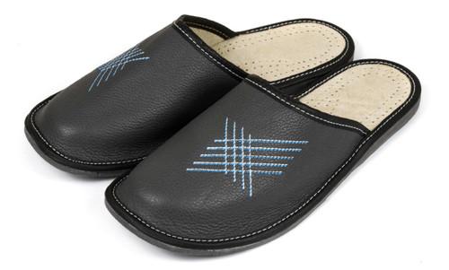 Men's Home Slippers  - Close Toe (Black)