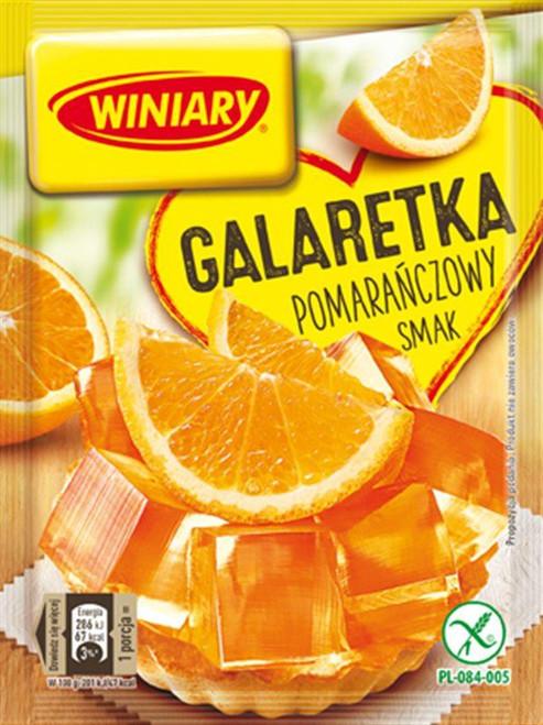Orange Fruit Jelly Dessert -Galaretka pomaranczowy smak 71g - Winiary