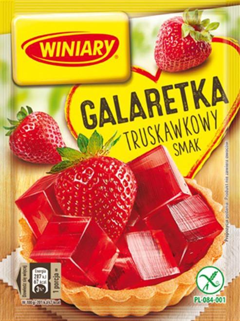 Strawberry Fruit Jelly Dessert -Galaretka truskawkowa smak 71g - Winiary