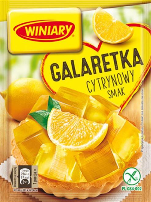 Lemon Fruit Jelly Dessert - Galaretka cytrynowy smak 71g - Winiary
