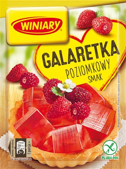 Wild Strawberry Fruit Jelly Dessert - Galaretka poziomkowy smak 71g - Winiary