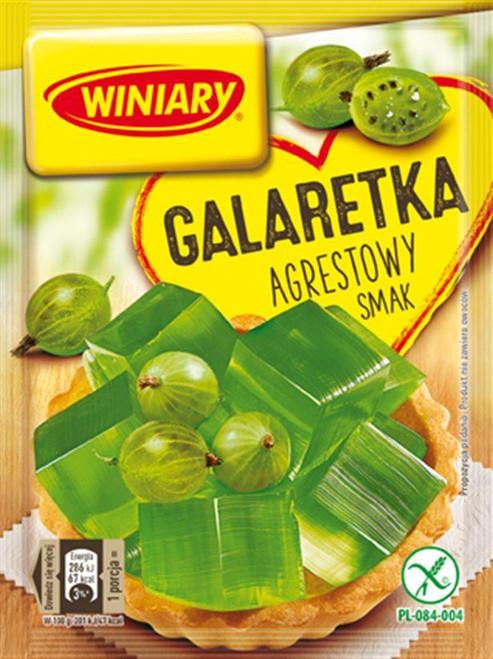 Gooseberry Fruit Jelly Dessert - Galaretka agrestowy smak 71g - Winiary