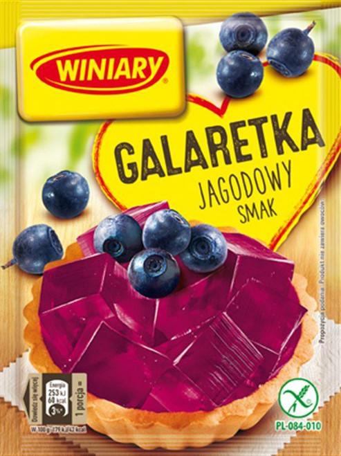 Blue Berry Fruit Jelly Dessert - Galaretka jagodowy smak 71g - Winiary