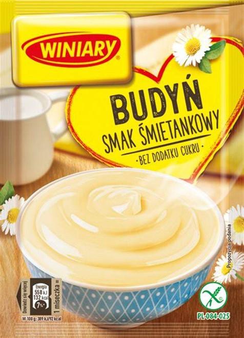 Creamy Pudding No Sugar Added - Budyn o smaku smietankowym bez cukru 38g - Winiary