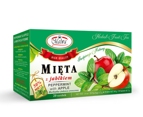Malwa - Mint With Apple Tea, 20/2g (bags)