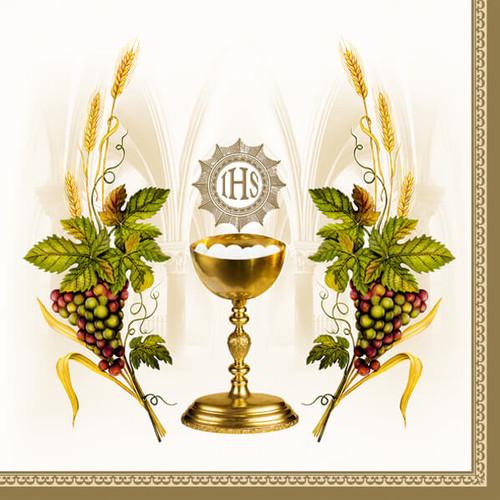 Golden Chalice First Communion Paper Napkins