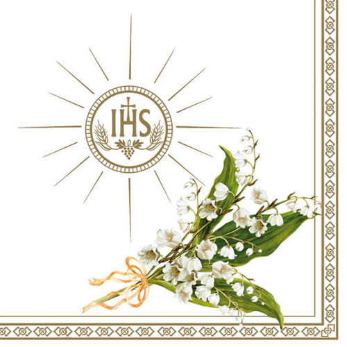 Lilly Of The Valley First Communion Paper Napkins