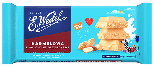 Wedel - Carmel White Chocolate With Salted Peanuts, 100g