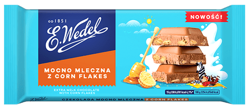 Wedel - Extra Milk Chocolate With Corn Flakes, 100g