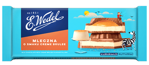 Wedel - Extra Milk Chocolate With Creme Brulee Filling, 100g