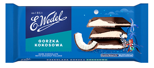 Wedel - Dark Chocolate With Coconut Filling, 100g