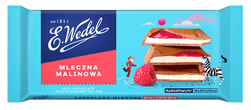 Wedel - Milk Chocolate With Raspberry Filling, 100g