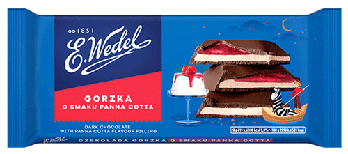 Wedel - Dark Chocolate With Panna Cotta Filling, 100g