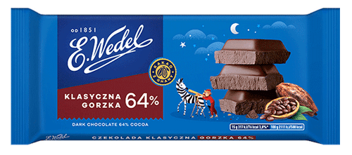 Wedel - Dark Chocolate 64% Cocoa, 100g
