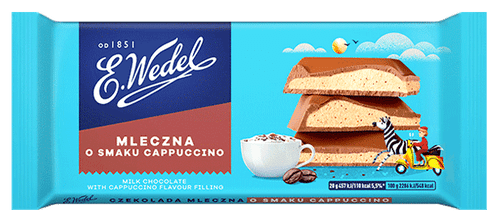Wedel - Milk Chocolate With Cappuccino Filling, 100g